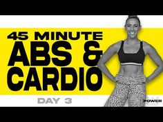 45 Minute Abs and Cardio Workout | POWER Program - Day 3 - YouTube 20 Minute Hiit Workout, Abs And Cardio Workout, Weight Lifting Workouts, Easy Workouts, Workout Videos, Burn Belly Fat, Exercises, Friday, 7 Hours