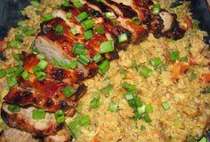 Lomo de Puerco Oriental Barbecue a la Parrilla, receta saludable, receta sana, receta de puerco