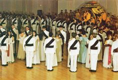 The presentation of the rings at the 1972 Ring Dance.