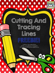10 pages of cutting and tracing practice for back to school!  FREE!