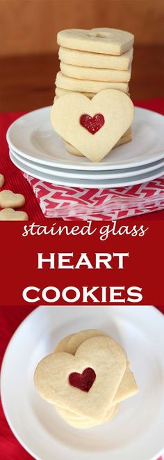 Stained Glass Heart Cookies | Perfect for Valentines Day from Holly Baker at www.abakershouse.com