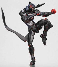 Amazon.com: Tengen Toppa Gurren Lagann Kaiyodo Revoltech Super Poseable Action Figure Lazengann: Toys & Games