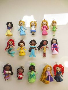 Favors?!?!?!? disney girls clay charms by SarahBettsyCharms on Etsy, £6.00