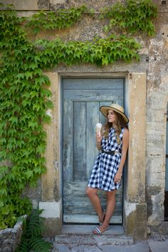 Gal Meets Glam- Gingham & Lavender Fields