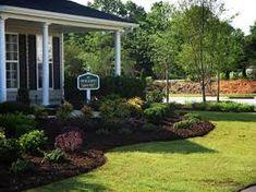 Corner lot landscaping idea.