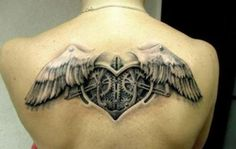 Steampunk angel wings tattoo - 25 Awesome Steampunk tattoo designs  <3 <3