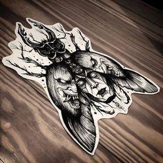 Devil Tattoo, Dark Tattoo, Tattoo Sketches, Tattoo Drawings, Cute Tattoos, Body Art Tattoos, Beetle Tattoo, Insect Tattoo, Witch Tattoo