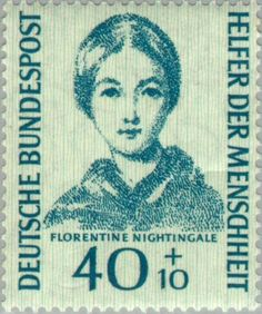 Florence Nightingale: The Heroic Lady With the Lamp Tilda Swinton, Florence Nightingale Biography, Ute Lemper, German Stamps, Hospice Nurse, British Family, Helfer, Red Cross, Mail Art