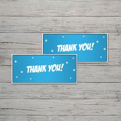 Supergirl Party Thank You Tags | Jackal Design