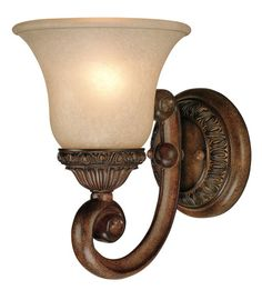 Carlyle 1 Arm Wall Sconce shown in Canyon Clay by Dolan Designs