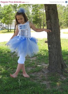 CIJ SALE Infant Size-These Are The Droids You Are Looking For-Boutique R2D2 Tutu Blue/Silver/White Inspired by Star Wars - Perfect for Fans. $12.00, via Etsy.