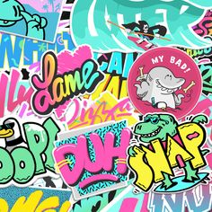 Graffiti , pop art styled bubble writing , Fresh Prince of Bel Air inspired 90s Design, Design Art, Graphic Design, School Design, Cover Design, 90s Art, Wallpapers Tumblr, 90s Colors, Neon Light