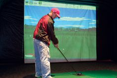 Our virtual reality golf simulation machines provide the most realistic experience in the industry.  With Texas Entertainment Group's Virtual Golf, players line up in front of a massive projection screen and swing an actual golf club—the audience watches as the drive lofts onto the green at famous courses like Augusta and Pebble Beach. http://texasentertainmentgroup.com/attractions/extreme-sports/virtual-golf/