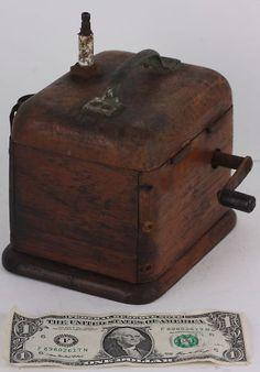 WANT! Antique hand crank cigarette lighter