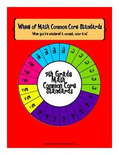 This fun wheel of standards includes all 24 Common Core math standards for 7th grade. Display the colorful copy in your classroom and provide each student a copy of the blackline master to keep in their math notebook. When students have mastered a concept have them color in the appropriate piece of the wheel. This will help encourage kids to be accountable for their own learning and keep them motivated to master every concept!