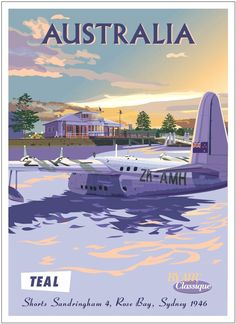 Vintage travel poster australia travel старые плакаты о Map Vintage, Photo Vintage, Vintage Travel Posters, Vintage Style, Vintage Airline, Vintage Men, Travel Ads, Airline Travel, Air Travel