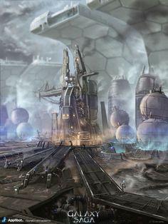 Artist: James Chung - Title: Galaxy Saga Factory - Card: Unknown