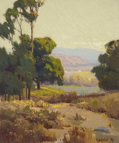 California Landscape Painting by Elmer Wachtel