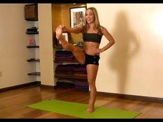 Yoga for Beginners, Utthita Hasta Padangusthasana from Ashtanga Primary Series with Kino (12/13/12, 3 mins)