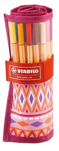STABILO point 88 - Rotulador punta fina - Estuche premium de tela Rollerset…