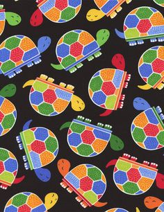 NEW Timeless Treasures Jamboree Turtles