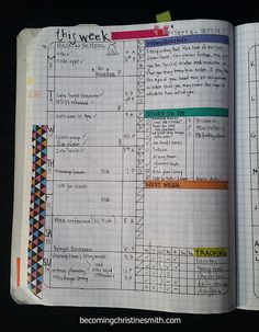 composition notebook grid planner DIY 2
