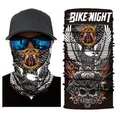 Skull Bike Night Bandana Shield B1060 Biker Bandanas, Motorcycle Face Mask, Skull Face Mask, Head Wraps, Nail Care, Night, Skull Mask, Turbans, Bike Face Mask