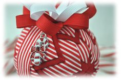 Candy Cane Ornament Top View