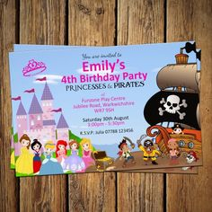 Princess and pirate party invitations free pirate party princess and pirate party invitations free pirate party pinterest party invitations princess and birthdays filmwisefo