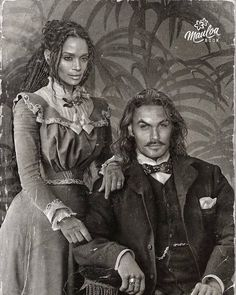 Jason Momoa and wife Lisa Bonet as Vintage Couple. Jason Momoa Aquaman, Jason Moma, Jason Momoa Lisa Bonet, Beautiful Men, Beautiful People, Famous Couples, Celebrity Couples, Belle Photo, Movie Stars