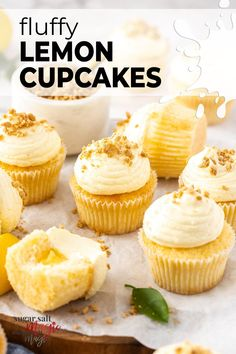 Like sunshine in a mini cake, these fluffy and moist lemon cupcakes are bursting with zesty lemon flavour and topped with an easy cream cheese buttercream. They even have a hidden lemon curd surprise centre. Like a lemon cheesecake in cupcake form, these zingy and bright lemon cupcakes are topped with a super smooth and creamy cream cheese buttercream. #sugarsaltmagic #cupcakes #lemoncupcakes #creamcheesefrosting Fluffy Cupcakes, Lemon Cupcakes, Cream Cheese Buttercream, Cupcakes With Cream Cheese Frosting, Sugar Free Recipes, Baking Recipes, Yummy Recipes, Cake Recipes, Mini Cakes