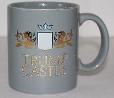 Vintage Donald Trump Castle Coffee Mug Gray Cup Ceramic Hard to Find