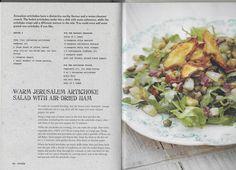 Warm Jerusalem Artichoke Salad with Air-dried Ham
