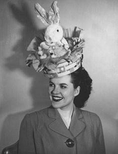 I could see Georgia using her fave stuffed bunny like this for her school Easter bonnet parade ;)