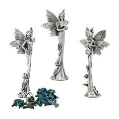 Natures Fairies Sculptural Fine Pewter Collection: Set
