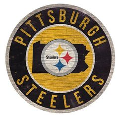Large Pittsburgh Steelers Logo Cut Out from
