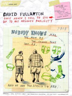 Nyhed I. Nyhed II. Og David Fullarton. http://thewildpony.com/2012/01/davidfullarton/