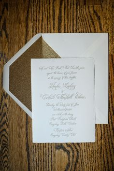 Studio R Gold Foil Invitation With Glitter Envelope Liner Www Design Event By Charlestonevent