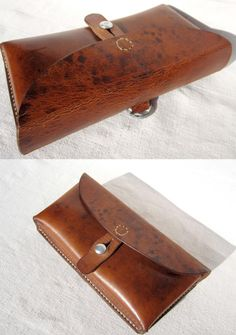 Vintage Swiss Army Leather Ammunition Bag by SwissvintageandMore