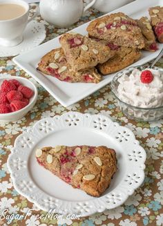 Grain Free Raspberry Almond Scones from @sugarfreemom low sugar and gluten free