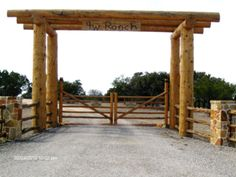 Ridgetop Fence Company - Log Archway, Log Entry Way
