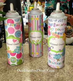 Ice Cream Social Party: DIY Whipped Cream Covers