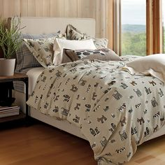A perfect match for dog lovers. This bedding set will be comfy enough for you and your pooch.
