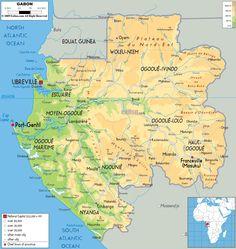 Gabon map - Bing Images