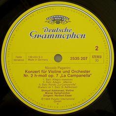 """Paganini: Violin Concerto no. 2, op. 7 """"La Campanella"""" (1969 Ashkenasi/V..."""