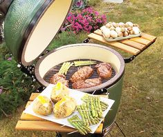 The ultimate Dad's Day gift - his very own Big Green Egg barbecue grill. It always cook everything to perfection every time!