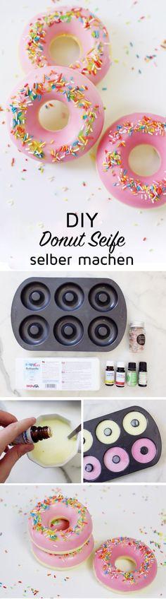 Donut Seife selber machen: Super originelles DIY Geschenk