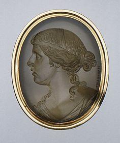 Portrait of Emma Hart, Later Lady Hamilton (1765-1803) Hamilton, 1st Century, Museum Collection, Gems, Carving, Portrait, Lyon, Jewellery, Art