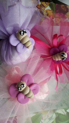 farfalle in fimo vari colori bomboniere nascita battesimo compleanni