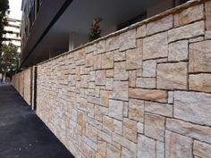 Project in sydney, rockmak Sandstone Cladding, Sandstone Slabs, Kerb Appeal, House Wall, Wall Cladding, Minimalist Lifestyle, Wall Design, Exterior, Landscape